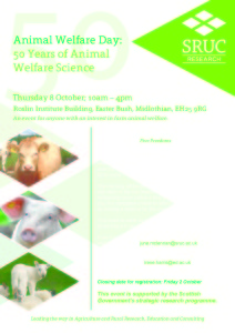 Invitation 2nd Animal Welfare Day SRUC